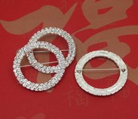 Wholesale Factory Price DIA50mm Rows Round Chair Sash Buckle Made Of Czech Rhinestone Customized Size Available