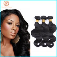 Wholesale Grade A Virgin Peruvian Hair Weaves Wet And Wavy Body Wave Hair Extensions g MoreThicker Hair Wefts Natural Color Soft Smooth