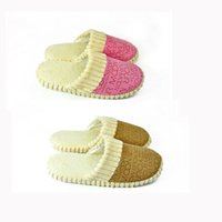 Wholesale Fashion New Home indoor Anti Slip Slippers Men Women Furry Cotton Sandals Shoes H12672