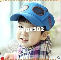 ball spectacles - Cool Korean Style All matching Baseball Caps for Children Personality Pilot Big Spectacles Military flat top Hats