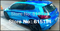 Wholesale xterior Accessories Car Stickers cmx152cm quot x60 quot Car Vinyl car vinyl wrap Car Phone Notebook Chrome Mirror Chrome Brush Ch
