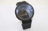 Men's big concept - Fine Quality Mikrogiroer Men s Wristwatch Black Face Black Rubber Belt Black Big Dial Male Watch New Concept Watch Relogio