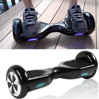 Wholesale Fashion Hoverboard Smart Balance Scooter inch Self Balancing Wheel LED light Electric Scooters Unicycle Black