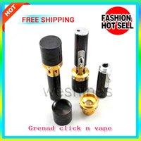 Wholesale incense burner click n vape amendment Brazier pen not for cigarettes tobacco smoking metal pipe rasta sneak a toke lighter USA