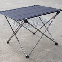 Wholesale Ultra light Portable Foldable Aluminium Alloy Table Desk Camping Outdoor Picnic Folding Table Grey