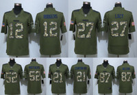 27 - Packers Aaron Rodgers Eddie Lacy Haha Clinton Dix Green Clay Matthews Salute To Service Limited Jersey Stitched