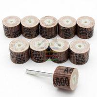 abrasive flap - 10pcs Grit Sanding Sandpaper Grinding Flap Wheel Mini Drill Dremel Accessories Rotary Tool Abrasive Buffing Stone Polishing