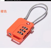 Wholesale new TSA customs lock combination lock travel abroad Anti theft wire lock bags padlock
