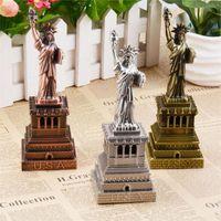 architectural crafts - 18cm Statue of Liberty de la liberte tourist city souvenir metal crafts arts building architectural models home decoration gifts
