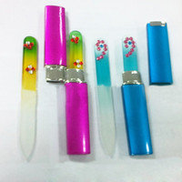 art devices - 2015 Durable Crystal Glass Nail File Buffer Art Files Manicure Device Tool WN