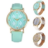 aztec patterns - Unisex men women ladies geneva Geometric flower pattern Acient Civilization Aztec quartz wrist watches dress watches for men