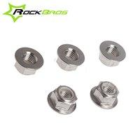Wholesale ROCKBROS Titanium Ti Lock Nut M10x1 mm Bike Accessories Slive