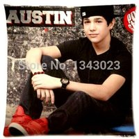 austin mahone - Boy Austin Mahone Sitting Zippered ComfortThrow Pillowcase Rectangle Size X18 Inch Twin Sides Printing