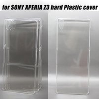 bulk lots - 20pcs Bulk For SONY XPERIA Z3 Hard Clear Plastic Cover Case Factory Direct Selling L55t L55u D6603 D6643 D6653