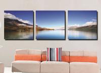Cheap Moder Fashion HD PRINTED PAINTING MODERN WALL DECOR ART CANVAS mountain sea landscape (no framed) free shippment