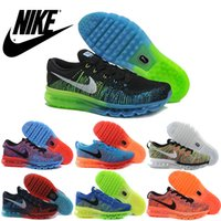 color shoe laces - 2016 New Nike Air Max Flyknit Premium Multi Color Awesome Men Running Shoes Original Nike Airmax Flyknit Maxes For Mens Shoes Sneakers