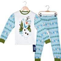 Wholesale DHL frozen boys Olaf snow man long sleeve fall winter pajamas cotton sleepwear sets
