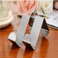 Wholesale 2PCS High Quelity Stainless Steel Self Home Kitchen Wall Door Holder Hook Hanger Hanging Coat Hooks