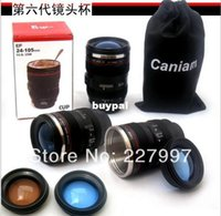 stainless steel travel mug - Free Ship th Generation stainless steel liner travel thermal Coffee camera lens mug cup with hood lid ml g caniampk1
