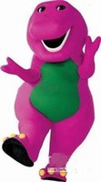 best movie props - Best price New Barney Mascot Costume Halloween Christmas Birthday Props Costumes For Adult Kids