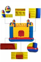 Wholesale Inflatable Castle Fashion Children High Safety and Plastic Inflatable Castle Hot Colorful Intelligence Development Toys