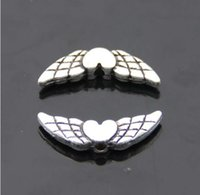 ancient materials - 20pcs x17mm alloy Handmade jewelry materials of ancient silver wings charms Pendant