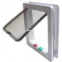 Wholesale 1509 M size Useful plastic Way Small Pet Cat Dog Supply Lock Lockable Safe Flap Door for pet products