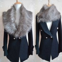 Wholesale Luxury Womens Faux Fur Collars Shrugs Scraf Wrap Snood Cape Neck Warmer Shawl
