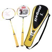Wholesale 2015 Hot Sale Durable Lightweight PcsTraining Badminton Racket Racquet with Carry Bag Badminton Set