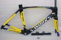 Wholesale 2015 NEW carbon frame black yellow R carbon fiber frame SIZE cm road bike carbon frameset road bicycle frame sell wheels