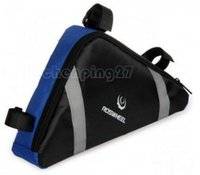 Wholesale 2015 Blue Orange New Cycling Bike Bicycle Frame Front Tube Triangle Bag Quick Release