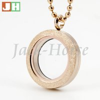 Wholesale Newest mm mm stainless steel round rose gold parkle glass locket