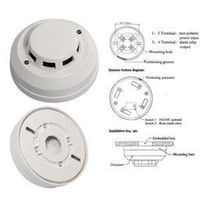 Wholesale 2014 New Arrival Wired Networking Sensor Smoke Detector For Sale Optical Host components Smoke Detector Alarm With Low Price A5