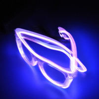 Wholesale EL Led glasses as Wedding Christmas Holiday Rave Costume Party Gift Bule Green Yellow Pink Red Purple Light