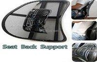 Wholesale Car Seat Chair Massage Back Lumbar Support Mesh Ventilate Cushion Pad Black