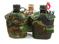 Wholesale Hasky Water Bottle Outdoor Sports Bottle US Polymer Kettle Camouflage Portable with Keep Warm Fluff Bag XQQ SH