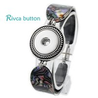 Wholesale P00709 Hot Snap Bracelet Bangles Newest Design Fashion Snap Button Magnetic Noosa Chunks Charm Bangles Fit18mm Rivca Snaps Jewelry