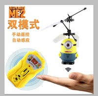 toy rc aircraft - Factory price Despicable Me Flying Minion Shatter Resistant Remote Control Aircraft Ch RC Helicopter Kids Toy Gifts ems free shippping