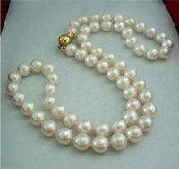 b beaded necklaces - gt gt gt quot Natural MM White Akoya Pearl Necklace K Clasp Jewelry A B