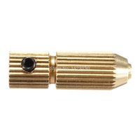 air drill chuck - 2 mm Brass Mini Small Twist Drill Clamp Fixture Chuck for mm mm Electric Motor Shaft