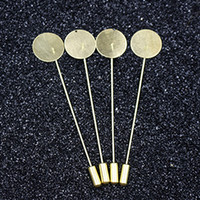 Wholesale lapel pin brooch Flat Blank Setting base women men s shawlcape scarf findings making connector charms long pins needle composant de bijoux