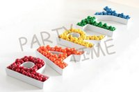 candy dish - PARTY plates porcelain candy dish alphabet plates set dishes for party