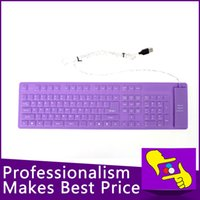Wholesale-109 teclas portátil plegable flexible impermeable de silicona suave MINI WIRED teclado USB para Tablet PC