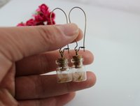 Wholesale 20X12MM Glass Jar With Dandelion seed earrings