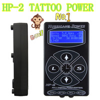 unités noires achat en gros de-Best Sell Tattoo Power Supply Hurricane HP-2 Alimentation Tatouage Digital Dual Black Tattoo Power Supplies Unit Livraison gratuite