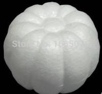 foam pumpkins - Natural Polystyrene white styrofoam pumpkin balls foam ball decoration for cartoon DIY crafts ornaments accessories christmas
