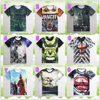 Wholesale 3D graphic tees men emoji t shirt hot Summer Stylish Cool Hulk D tiger peacock flag skull Men s casual short sleeved T shirt Clothing