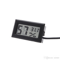 Wholesale LCD Digital Mini Thermometer Humidity Tester Electronic New Hygrometer Temp Gauge Temperature Meter Monitor Household Sundries DHL free
