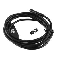 Wholesale New MM M LED USB Waterproof Endoscope Borescope Tube Snake Camera mm Lens Mirror As Gift A2