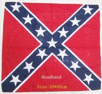 battle crystal - National flag Headbands USA Headbands Confederate Battle Flag Headbands Confederate Rebel Civil War Flag Headbands